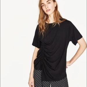 Zara Black womens basic collection tee shirt